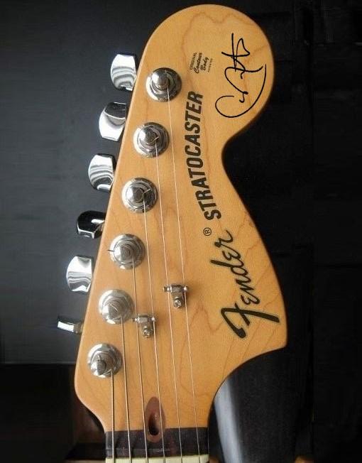 Carlos Santana Headstock