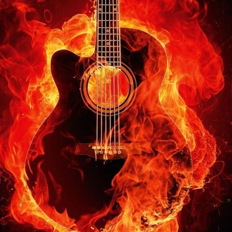 Decal Guitar Fire